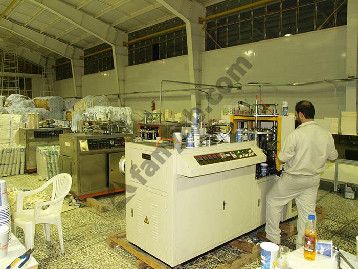 دستگاه تولید لیوان کاغذیتصاویر نمونه دستگاههایی مشابه که تابحال توسط فن یاب به مشتریان عزیز تحویل داده شده است